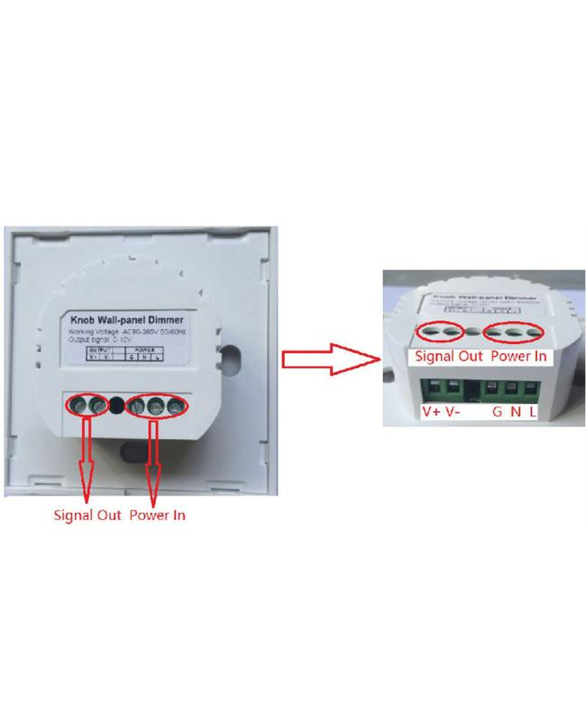 Knob Wall Panel LED Dimmer