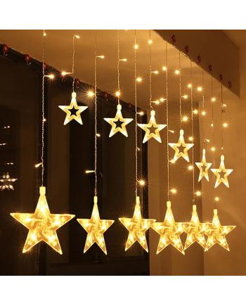 12PCS Big Star 220V LED Curtain Light