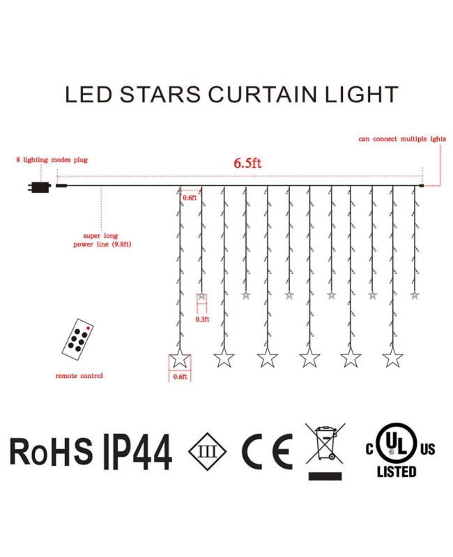 220V LED Curtain Light