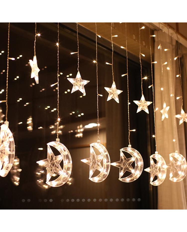 Moon Star Christmas House Lights