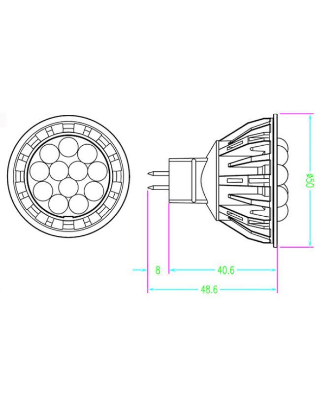 5W SMD LED MR16 Bulb