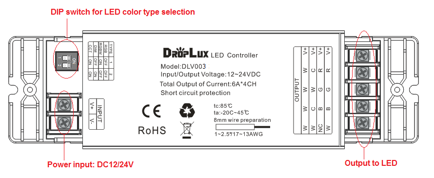 4IN1 RGB LED Controller
