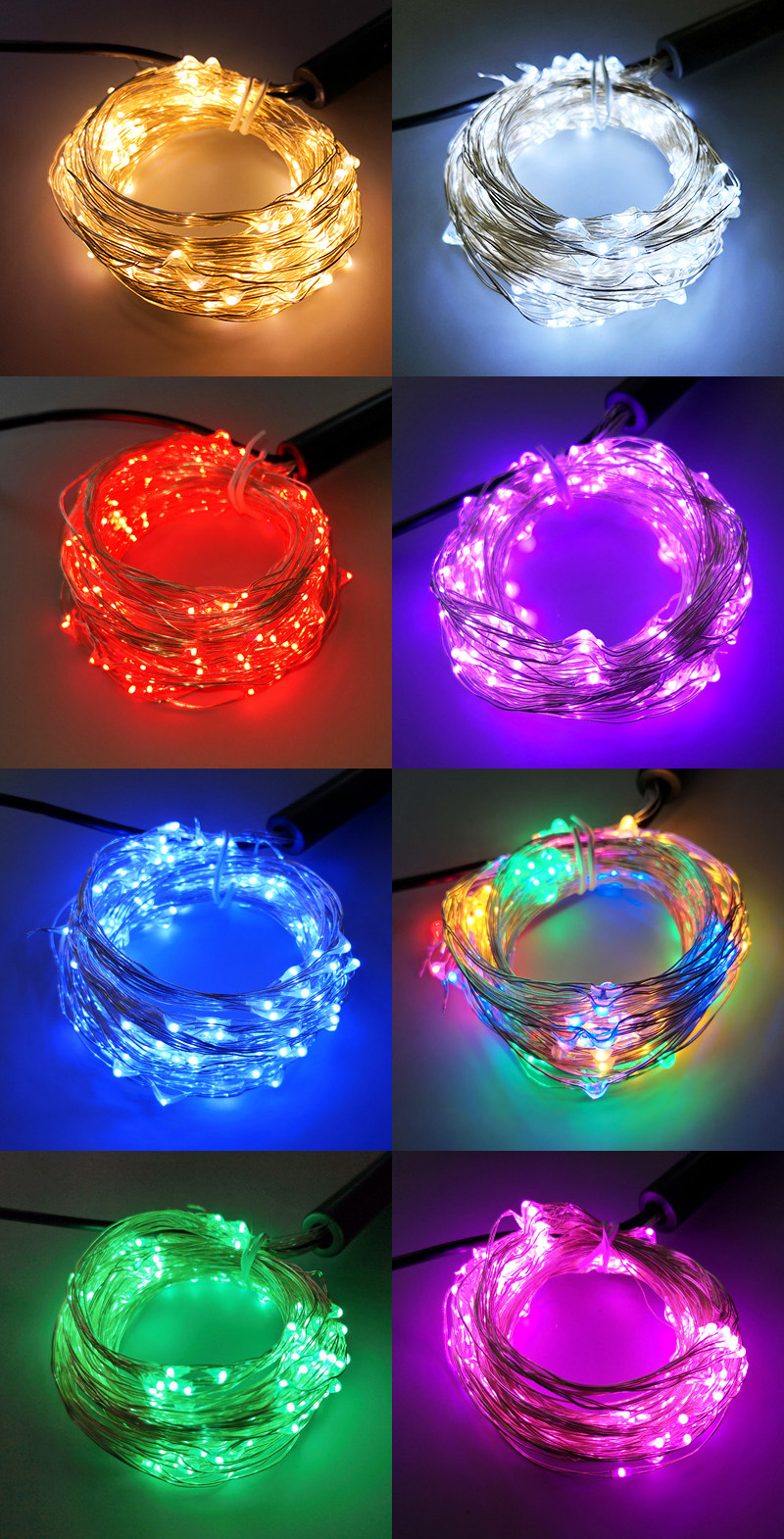 Horse Tail LED Copper Wire Fairy Light