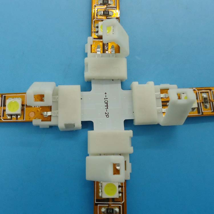 + Shape 10mm 5050 single color LED connector